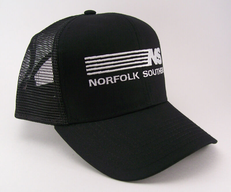 Norfolk Southern Railroad Ns Stripes Embroidered Cap Hat #40-0032bm