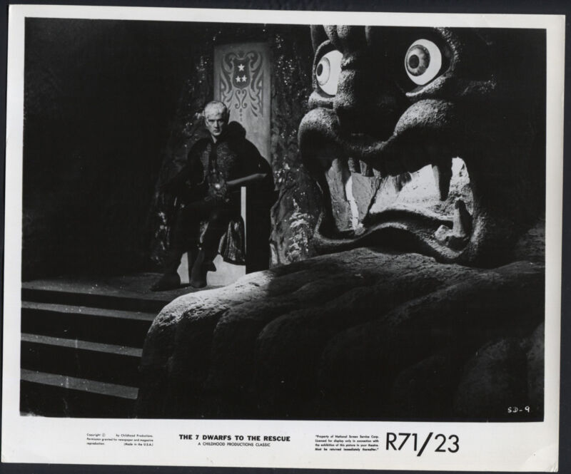 The 7 Dwarfs To The Rescue '71 GEORGES MARCHAL THRONE MONSTER