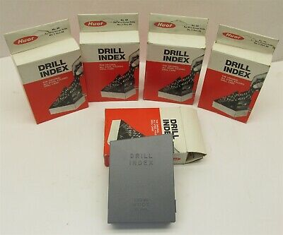 Lot Of 5 New Huot Drill Index 1 - 60 Number Size Drills No. 60 Usa Mde. -d7996