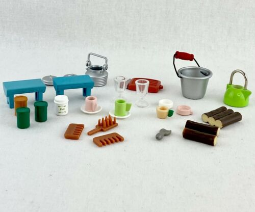 Calico Critters Dollhouse Lot of 28 pcs Kitchen Accessories miniature