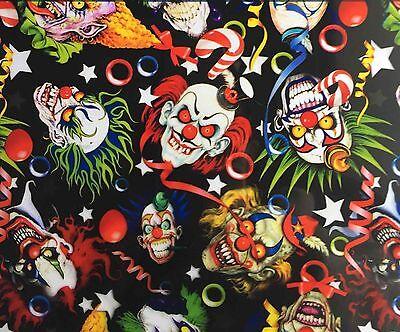 Hydrographic Film Water Transfer Printing Film Hydro Dip Creepy Clowns 1sq