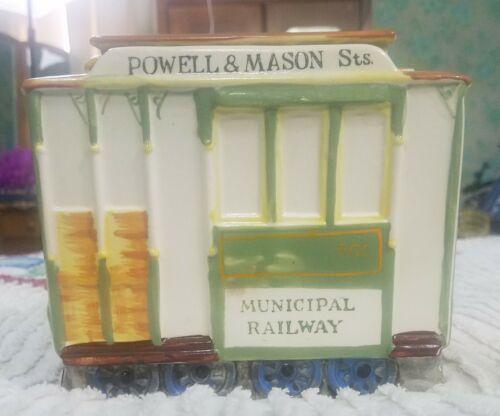 Vintage San Francisco Train Municipal Railway Cookie Jar Fred Roberts Japan