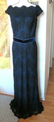 TADASHI SHOJI LACE BLACK GOWN DRESS