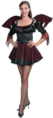 Halloween womens Midnight Angel Costume dress wings & top size 8-10 NIP (Top 10 Halloween-kostüme)