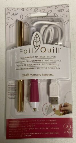 We R Memory Keepers Foil Quill Caligraphy Tip Freestyle Pen 661094 Pink