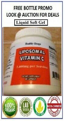 LIPOSOMAL VITAMIN C 3,000mg ORGANIC SOY FREE PURE 60 LIQUID CAPSULES Exp 12/2023 Organic Vitamin C