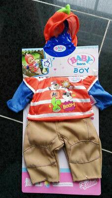 Baby Born Boy-Kleidung,Kapuzen-Shirt+Hose,Junge,Zapf - Superhelden Boy