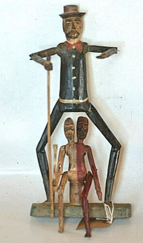 1 of akind MAXIMON SAN SIMON- Mayan folk art - articulated sculpture
