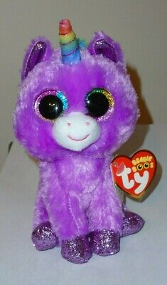 Ty Beanie Boos ~ ROSETTE the Purple Unicorn (6 Inch) 2019 NEW ~ IN HAND