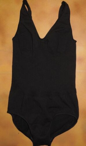 NWOT Seamless Black Pinch Front Tank Leotard Low Back Supplex Ladies Small Adult