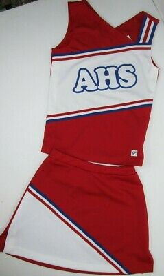 Authentic Central High School Varsity CHS Cheer Red White Cheerleading Uniform