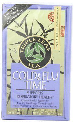 Triple Leaf Tea, Cold  Flu Time, 20 Tea Bags (Pack of 6) Flu Time Tea