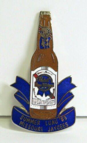 1983 Pabst Blue Ribbon Beer Missouri Jaycees Luau Metal Enameled Pin