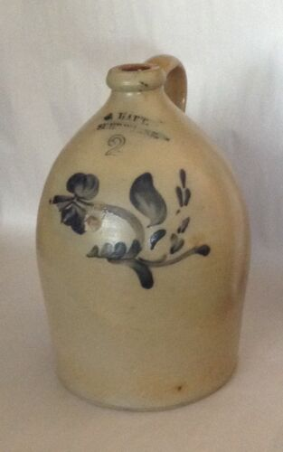 1875 2 Gallon C.Hart Cobalt Decorated Jug