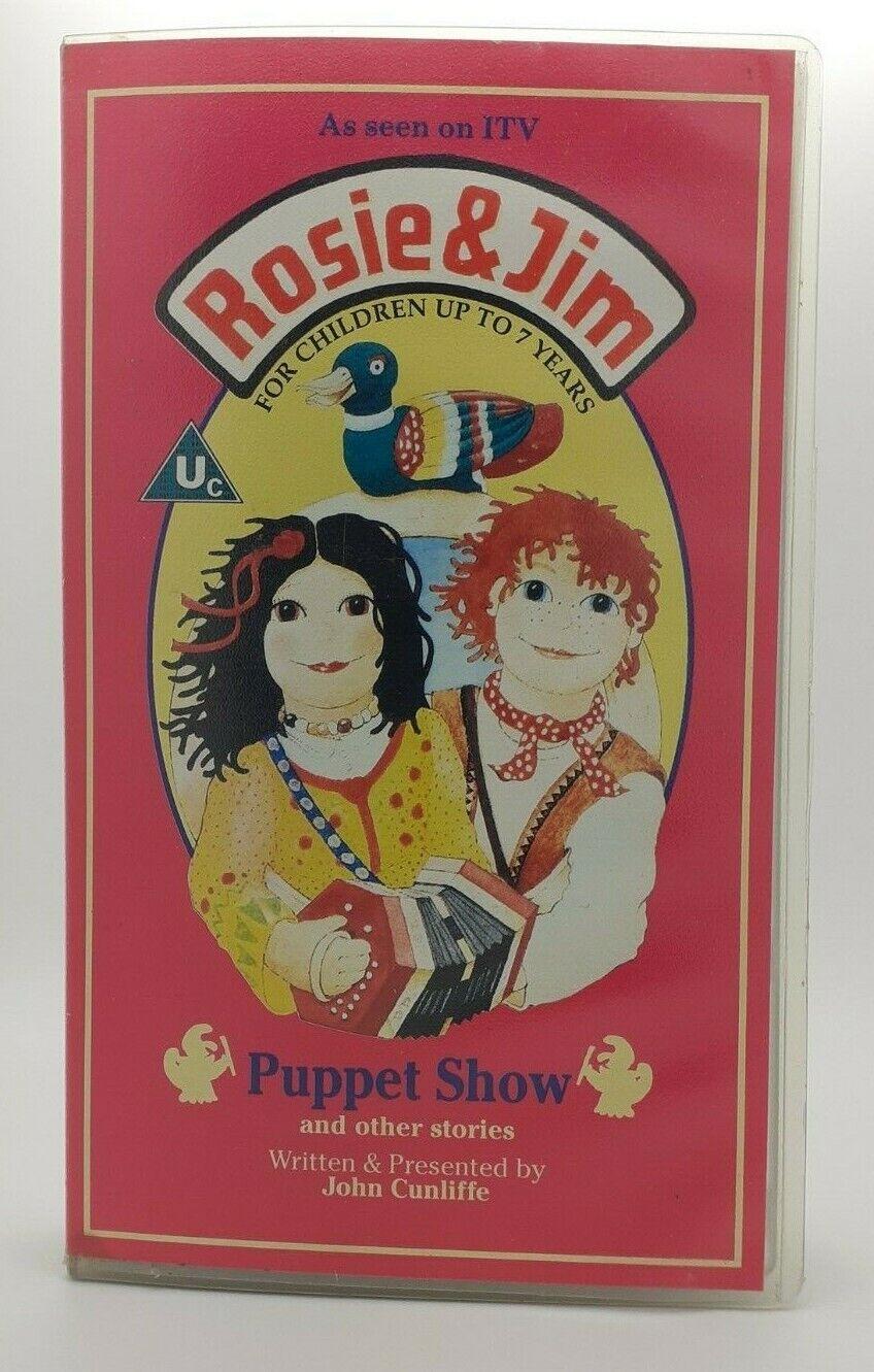 Rose & Jim VHS Video Tape Cassette - Puppet Show