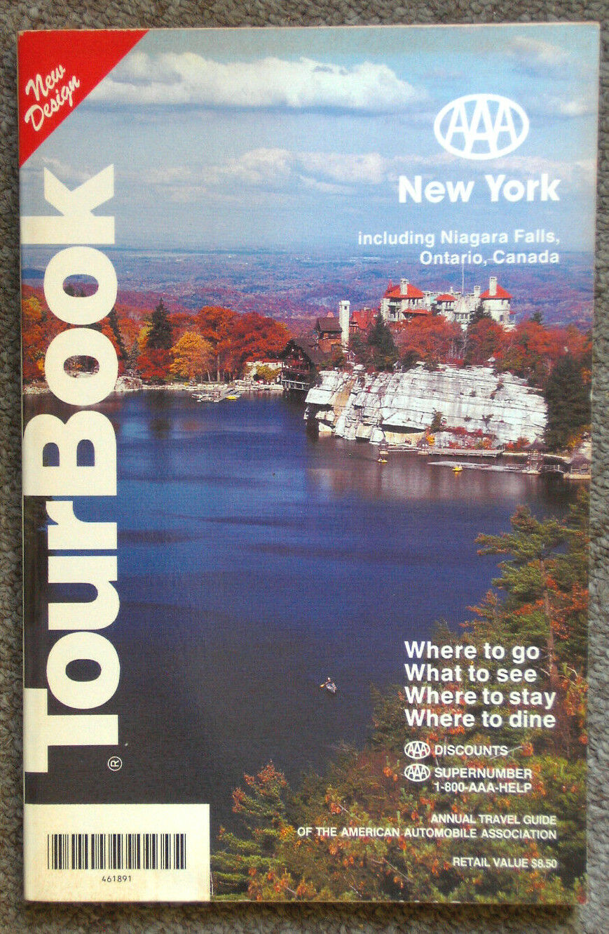 Vintage AAA Tour Book New York 1992 Edition - $0.99