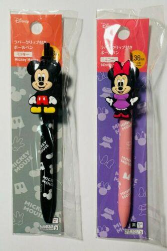 Daiso Disney MINNIE & MICKEY MOUSE BALLPOINT PENS Set of 2 - New (US Seller)