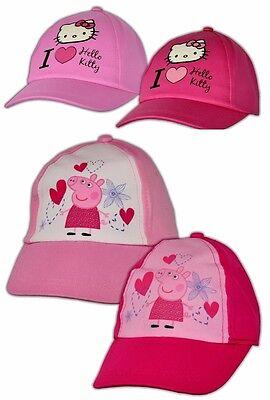 Peppa Wutz Hello Kitty Mädchen Basecap Mütze Sommermütze Baseballcap Pig Cap Hello Kitty Baseball
