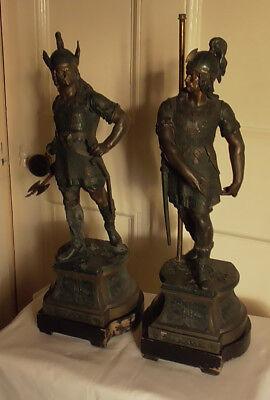 Antique Spelter Figures - Vikings