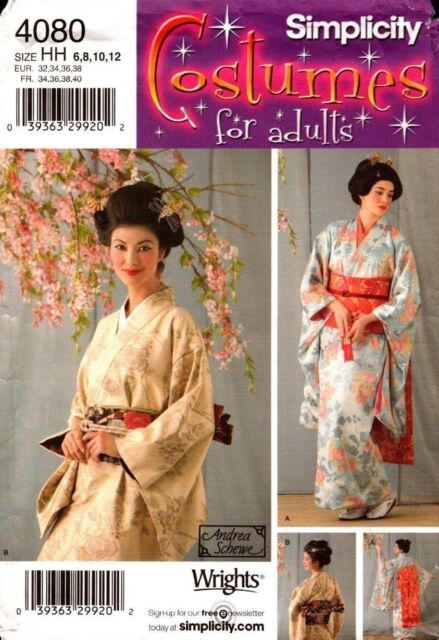 Simplicity Pattern 4080 Misses' Costumes Kimono 6, 8, 10, 12 NEW