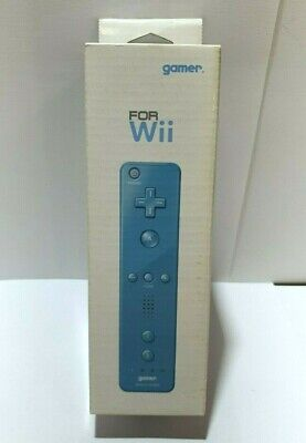 Gamer WII motion remote controller BLUE + jacket - NEW