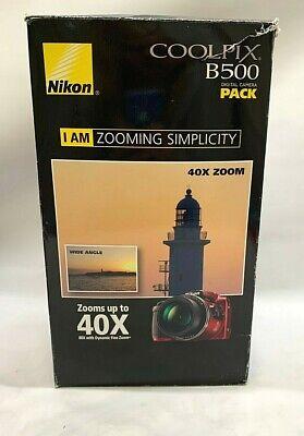 Nikon COOLPIX B500 16MP 40x Optical Zoom Digital Camera Bundle NEW OPEN BOX