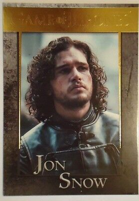 Game Of Thrones Season 4 Jon Snow Gold Parallel  Card  40 109 150 Kit Harington