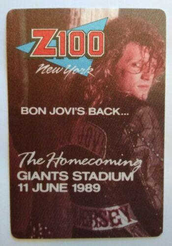 Bon Jovi Backstage Pass Giants Stadium Tour Original 1989 Rock Music New Jersey