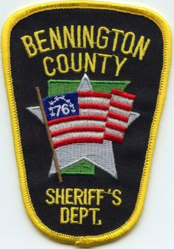 BENNINGTON COUNTY VERMONT VT American Flag SHERIFF POLICE PATCH