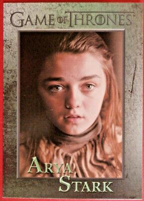 GAME OF THRONES - Season 1 - Card #32 - ARYA STARK - Rittenhouse 2012