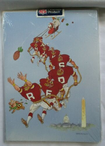 VINTAGE 1990 WASHINGTON REDSKINS NFL CHRISTMAS GREETING CARDS - PACK OF 12 - NEW