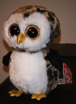 "Ty Beanie Boos ~ OWLIVER the 6"" Owl ~ NEW Plush Toy ~ MINT with MINT TAGS"