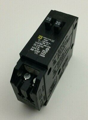 Square D Homt2020 1-pole Tandem 20-amp 120240v Plug-in Circuit Breaker