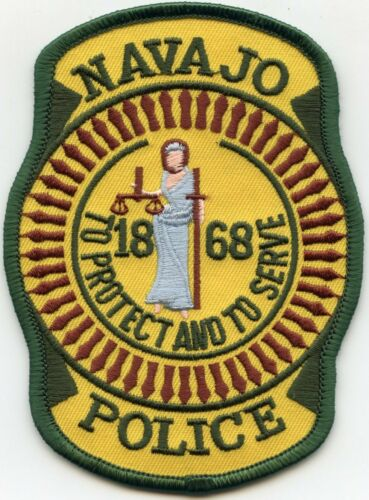 NAVAJO Indian Tribe ARIZONA AZ To Protect And To Serve TRIBAL POLICE PATCH