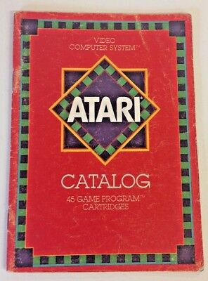 Vintage 1980 The Atari Video Computer System Catalog 45 Game Program Cartridges