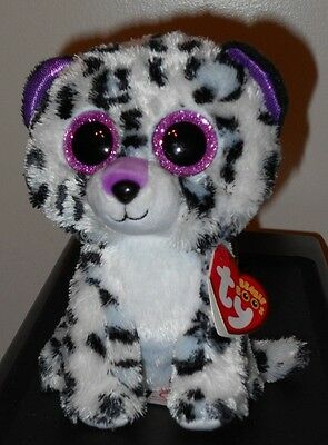 """Ty Beanie Boos - VIOLET the 6"""" Claires Exclusive Leopard ~ 2017 NEW ~ IN HAND"""