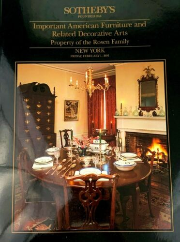 Sothebys - Property of the Rosen Family American Furniture 1991 Auction Catalog