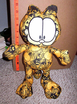 GARFIELD Halloween orange plush Jim Davis tabby cat stuffed animal comic-strip