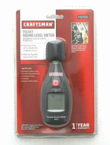 Craftsman Pocket Sound Level Meter Audio and Auto System Testing 34-82016