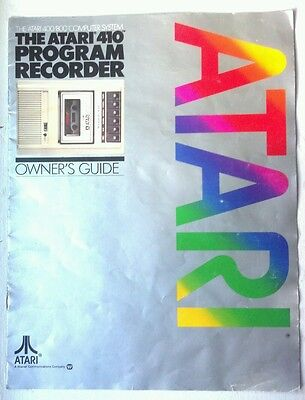 Atari Computer System Atari 410 Program Recorder Owners Guide