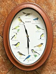 ELECO Singing SONGBIRD Oval WALL CLOCK Quartz