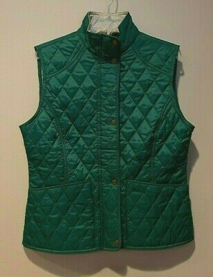 Womens Barbour Green Summer Liddesdale Gilet Quilted Vest Size US 10