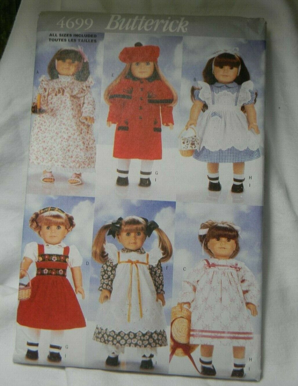 "BUTTERICK 4699 American Girl 18"" doll clothes sewing pattern"