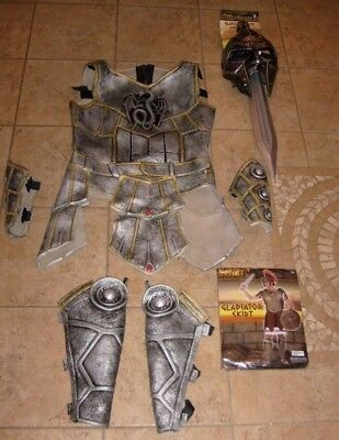 ROMAN GLADIATOR MAXIMUS COSPLAY HALLOWEEN DELUXE ADULT COSTUME ARMOR SWORD NEW