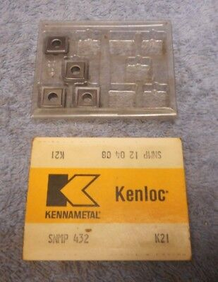 Kennametal Carbide Inserts  Snmp 432 Grade K21  Pack Of 4