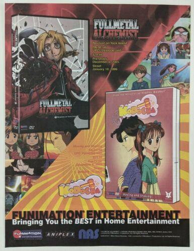 Fullmetal Alchemist Kodocha Print Ad DVD Poster Art PROMO Official Anime
