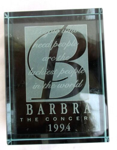 BARBRA STREISAND..THE CONCERT TOUR..1994..CRYSTAL..PAPERWEIGHT..NEW