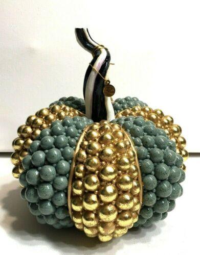 MACKENZIE CHILDS Autumn Harvest  - Sage Jewel PUMPKIN NEW in BOX