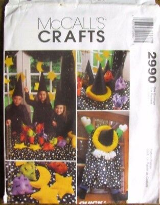 McCall's Pattern 2990 Wizard Witch Warlock Astrology Halloween Craft Decorations (Halloween Decoration Crafts Adults)