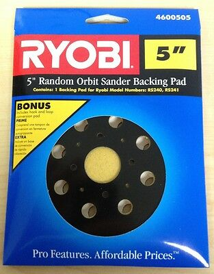 "Ryobi 5"" Random Orbit Sander Backing Pad Pads - only $2.99 for each additional!"